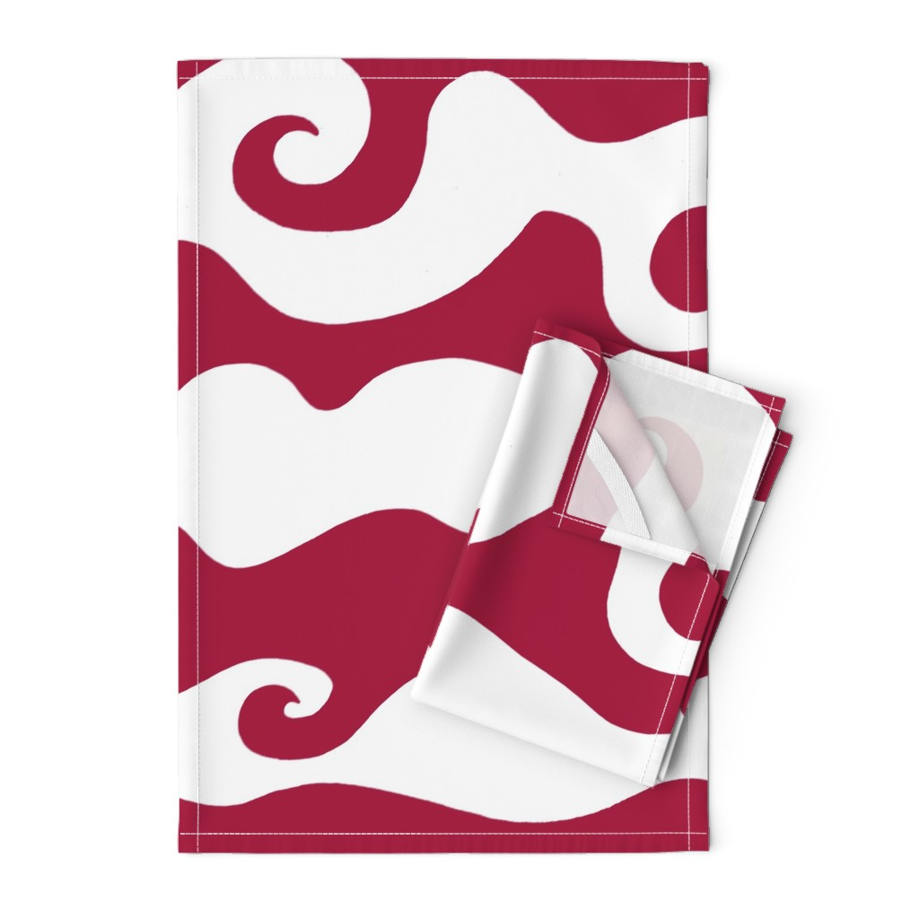 Orpington Tea Towels featuring Swirly Wave - scarlett by designergal