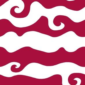 Swirly Wave - scarlett