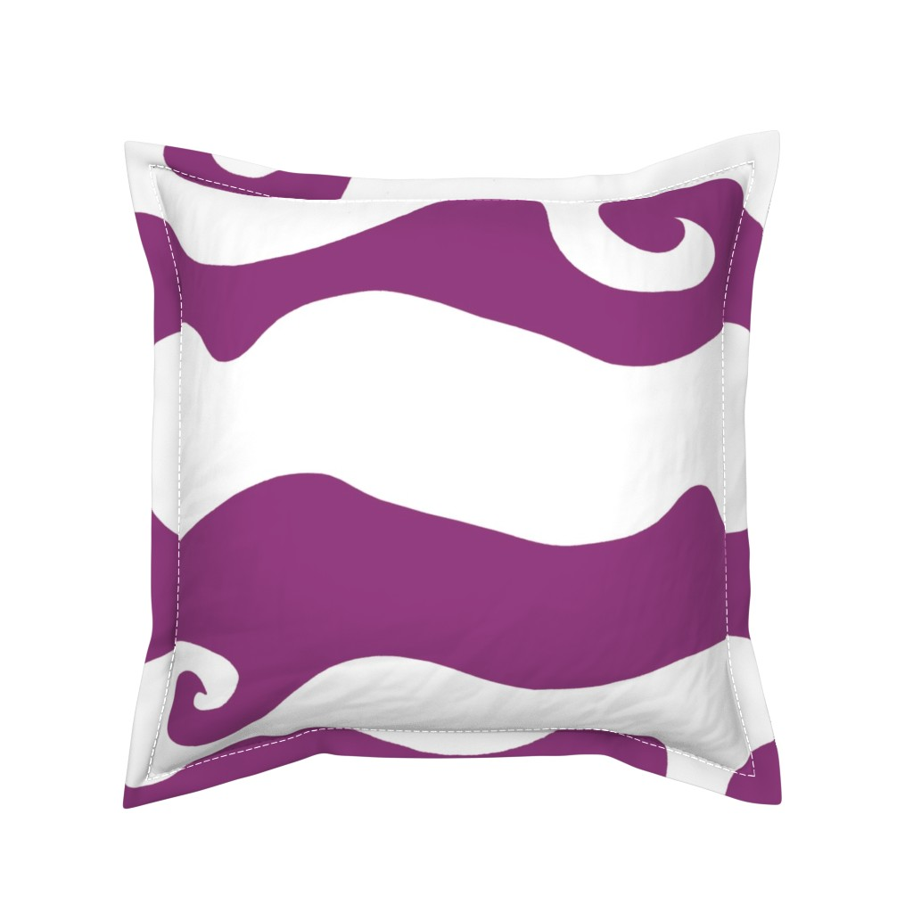 Serama Throw Pillow featuring Swirly Wave - viola by designergal