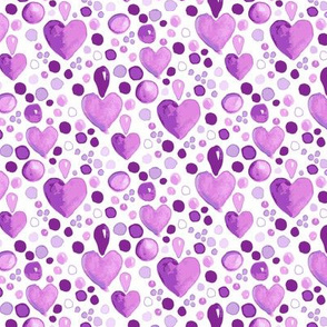 Watercolor Heart || Purple Easter  Lilac Love_Miss Chiff Designs