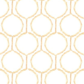 Watercolor Tan Brown White || circle spots Bamboo  Rose Trellis