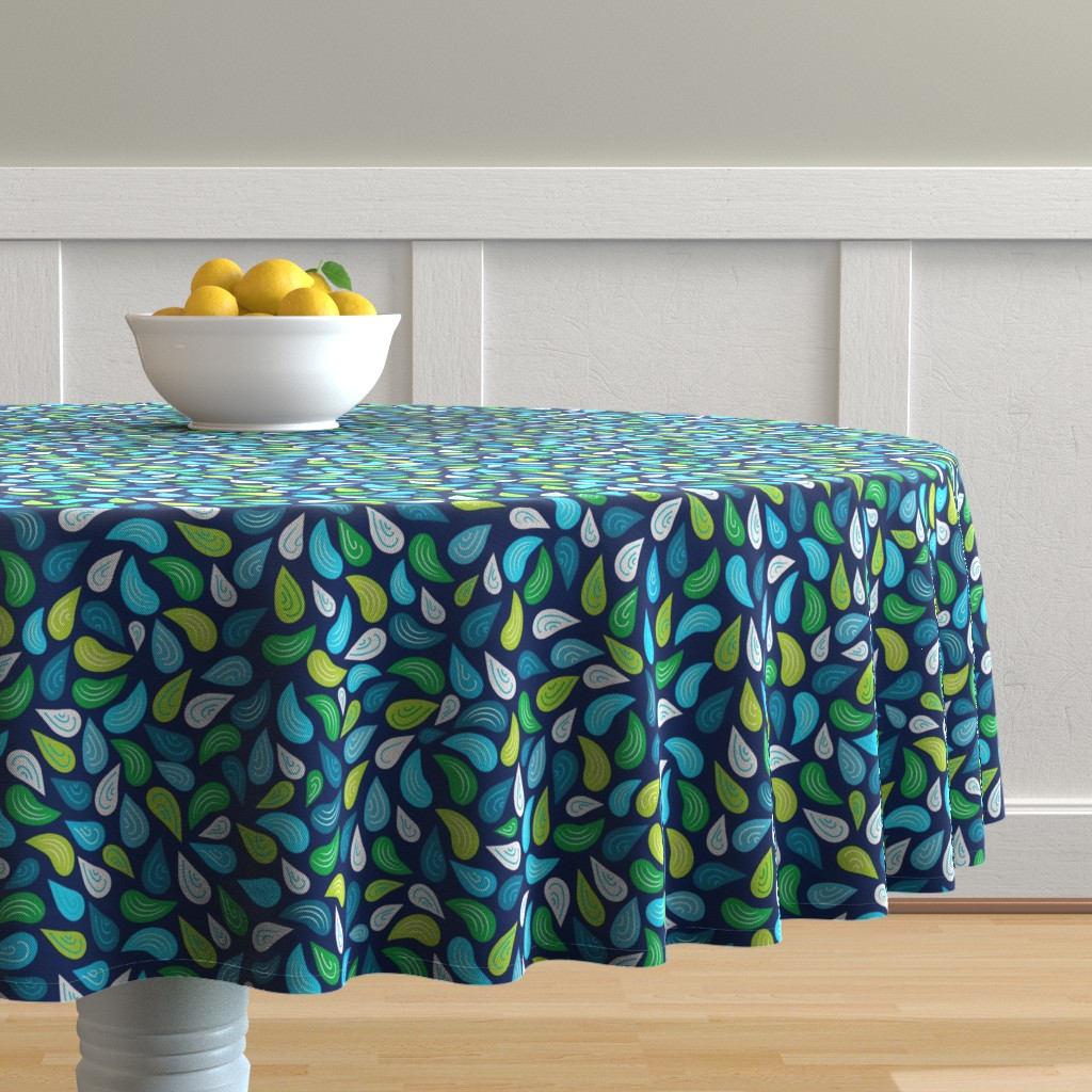 Malay Round Tablecloth featuring 8by8_spoonflower by joan_herlinger_design_&_illustration