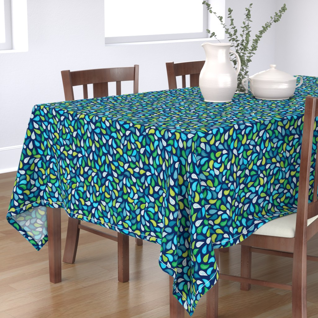Bantam Rectangular Tablecloth featuring 8by8_spoonflower by joan_herlinger_design_&_illustration