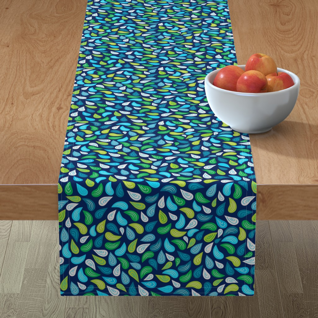 Minorca Table Runner featuring 8by8_spoonflower by joan_herlinger_design_&_illustration