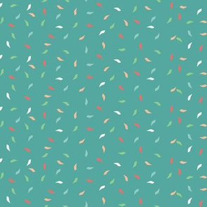 Birthday Party Confetti on Teal