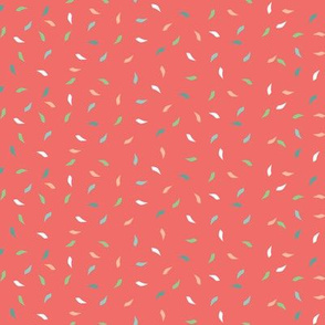 Birthday Party Confetti on Coral