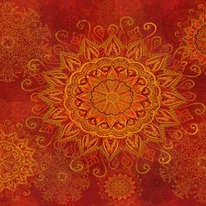 Mandala Central Fire Star