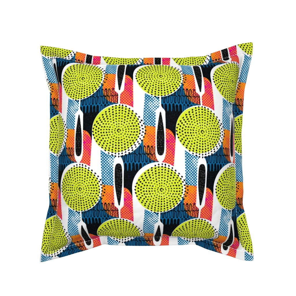 Serama Throw Pillow featuring Strainer mandala (& potato masher too) by ottomanbrim
