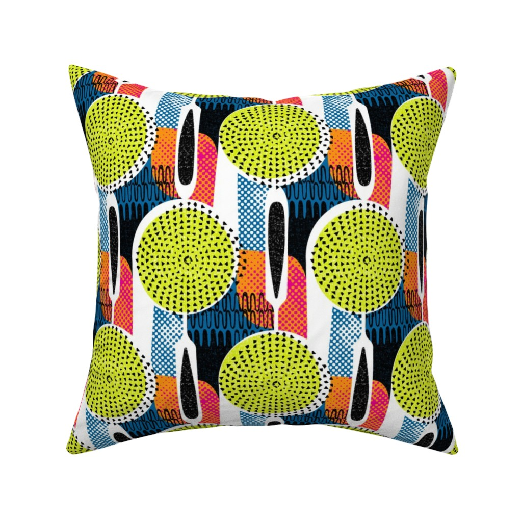 Catalan Throw Pillow featuring Strainer mandala (& potato masher too) by ottomanbrim