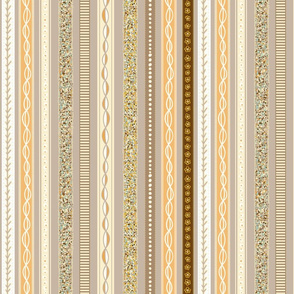 Ribbons Seamless Repeating Pattern on brown