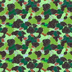 Wax crayon camouflage