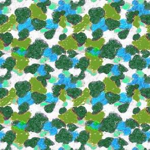 Camouflage pattern green - cyan