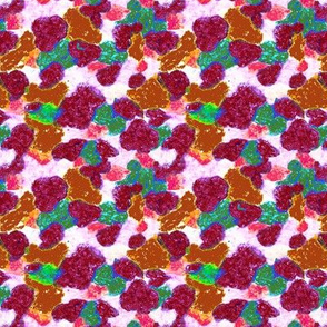 Wax Crayon Camouflage Pattern red