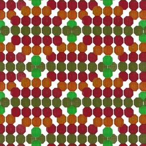 Cheerful Geometric Octagon Pattern Green - Red