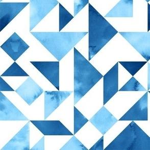 Blue Tangram Composition
