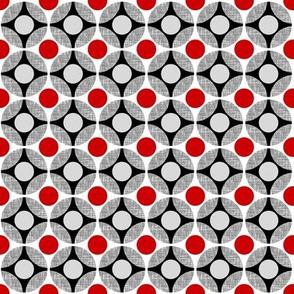 Rachel: UK Mod Circular red + gray (SMALL SCALE) by Su_G_©SuSchaefer