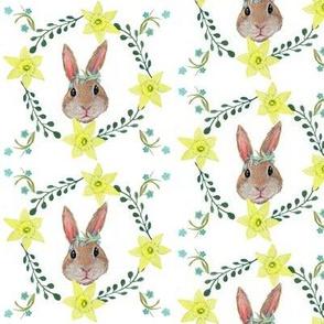 Boho bunny  nursery floral