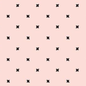 Blush Pink Square Polka Dot