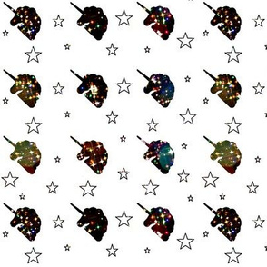 Unicorn Silhouette Stars and Sparkle