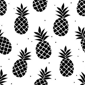 Black and White Pineapples