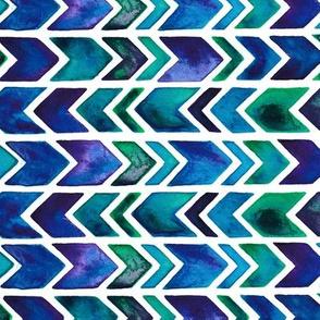 Blue Geometric Arrows