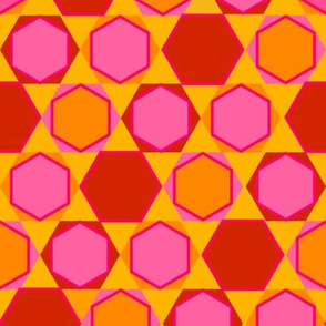 Hexagons (Warm Colours)