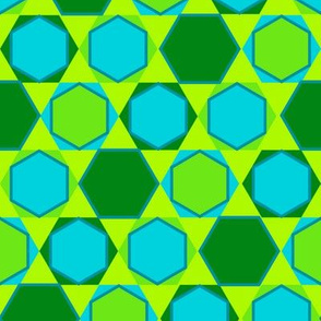 Hexagons (Cool Colours)