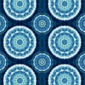 Indigo watercolor Mandala