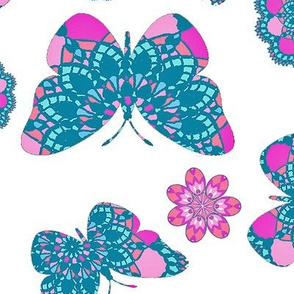 Butterfly Bohemian bright Lace
