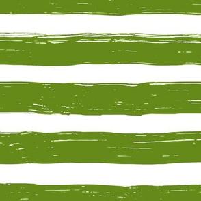 Bristle Stripes - Avocado on White