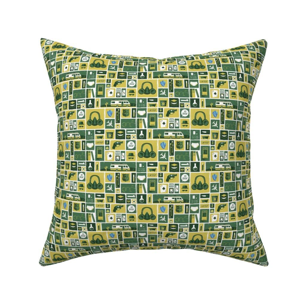 Catalan Throw Pillow Featuring Breaking Bad Symbols By Nerdfabrics