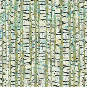 Birch Trees Green