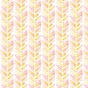 Watercolor Feather Chevron in Blush Pink Smaller