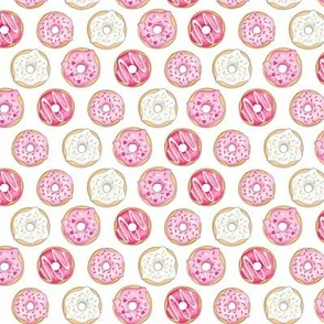 Iced Donuts - Pink 1 inch donuts