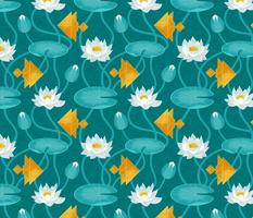 Tangram goldfish and water lilies