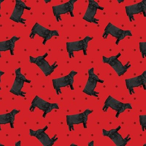 Polka Dot Steer - Red
