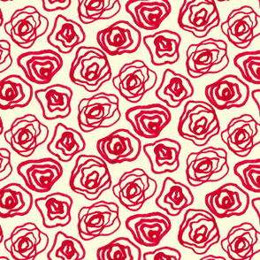 Roses - Yellow Background