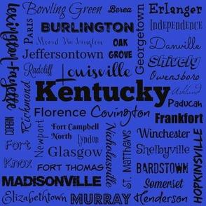 Cities of Kentucky, blue