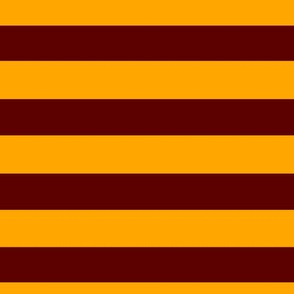 Magic School Lion Wizard Stripes Dark Red and Gold / School Colors / House Colors