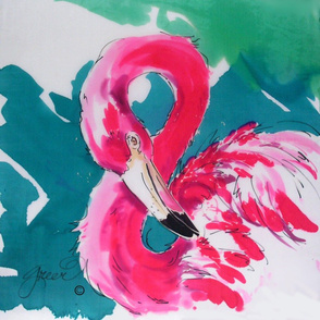 Hot Pink Flamingo