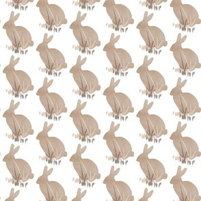 Easter Bunny Rabbit Animal Pet Neutral Beige Watercolor