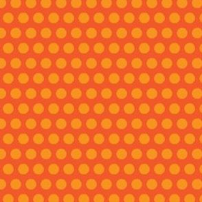 Carrot vegetable Polka Dot Orange Peach Peach Tangerine Fruit Food_Miss Chiff Designs