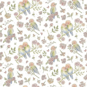 Birds and Bees Pattern