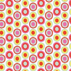 16-15F Bright Spring Dots Spots Red Blue Yellow Pink White _Miss Chiff Designs