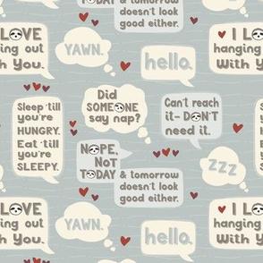 Sloth Sayings © Jennifer Garrett