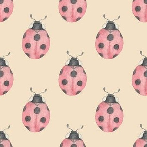 Lady Bug Pattern - Lucky Woodlands