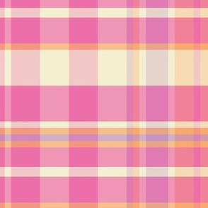 16-15A Plaid Pink Yellow Lilac Orange Easter _ Miss Chiff Designs