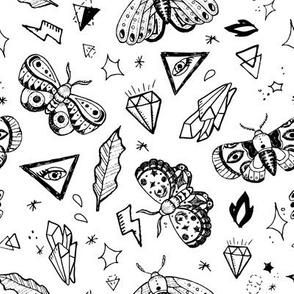 Black tattoo butterflies