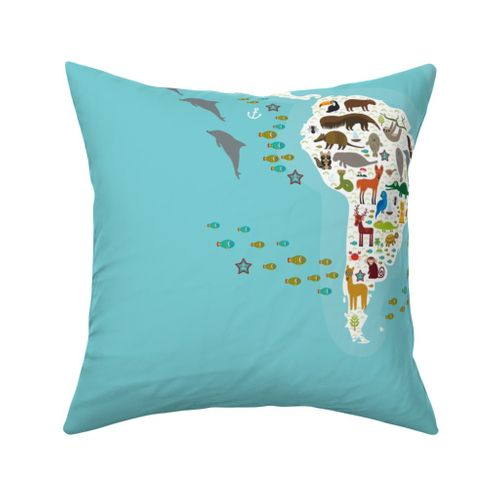 Planet Earth Globe Green Continents on Blue Ocean Theme Bunting Banner 15 flags