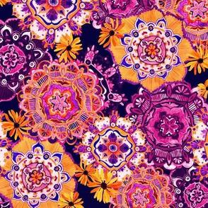 Mandala Medley Orange Purple